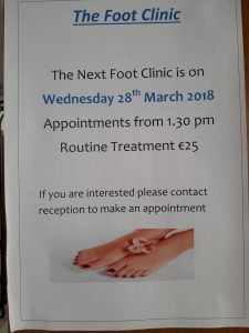 Foot Care Clinic Appointments